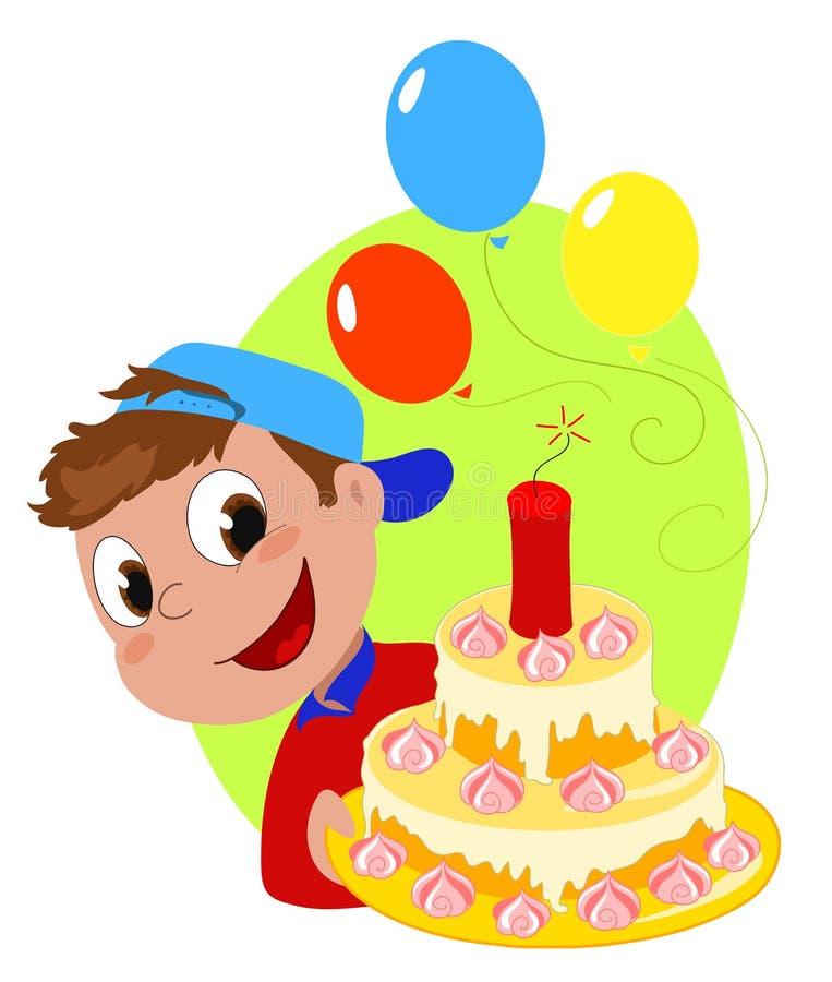 födelsedagcakesprängämne stock illustrationer