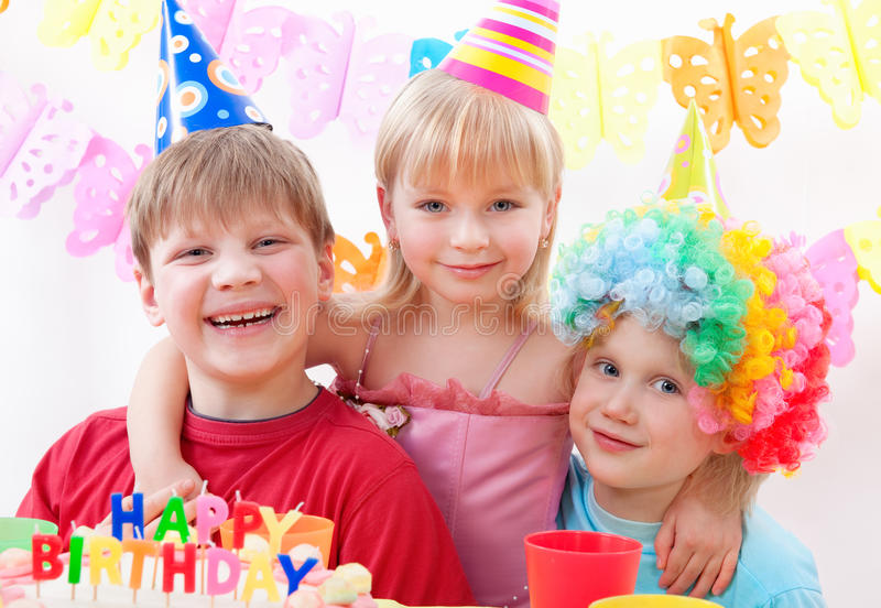 födelsedagdeltagare fotografering för bildbyråer