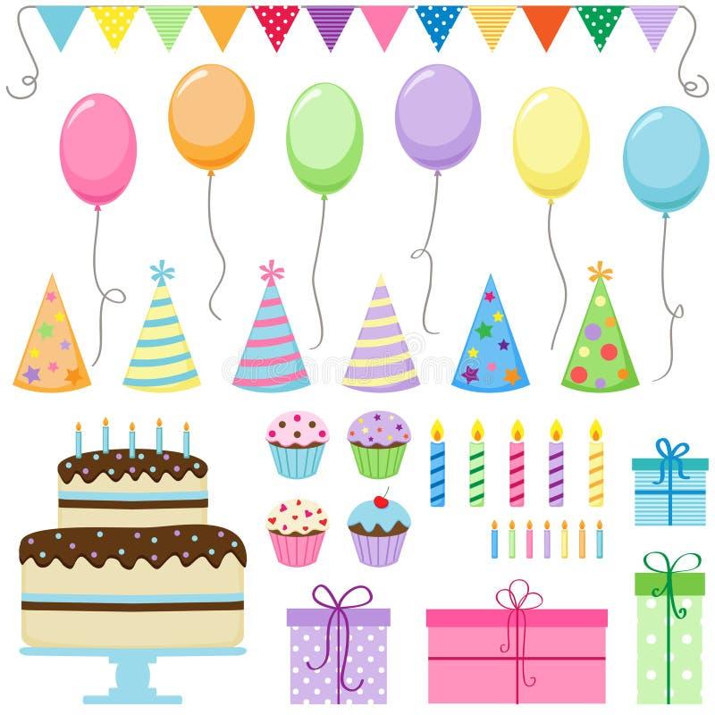 födelsedagdeltagare vektor illustrationer