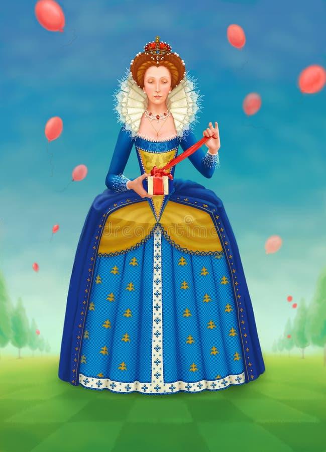 födelsedagdrottning s stock illustrationer