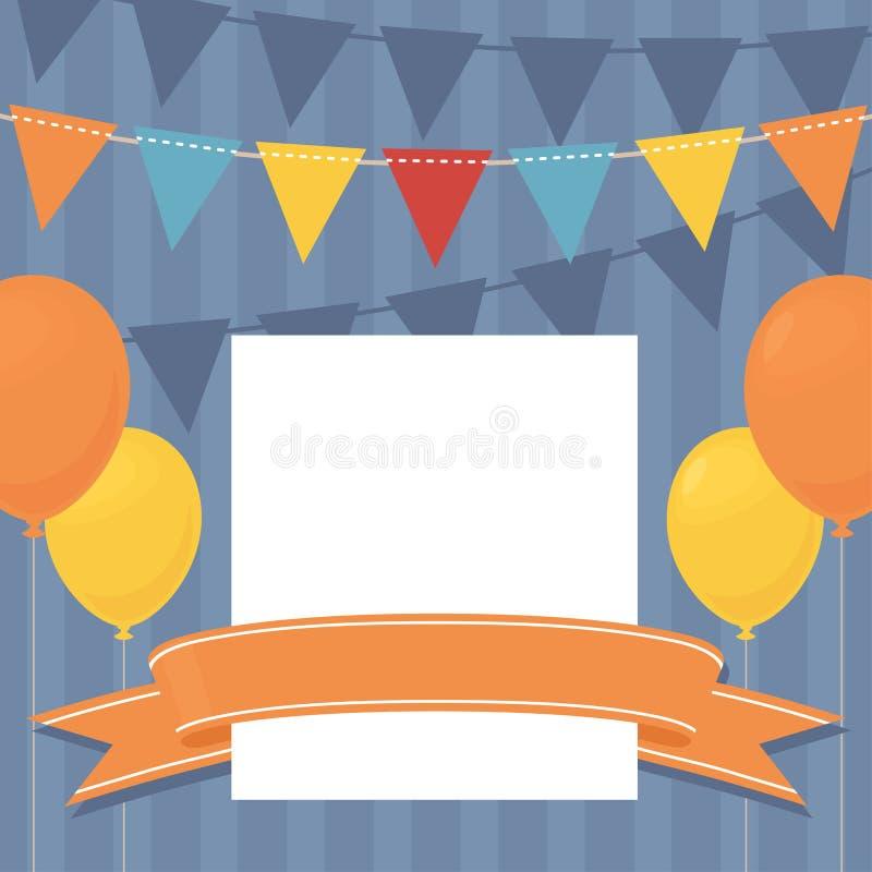 födelsedagen inviterar vektor illustrationer