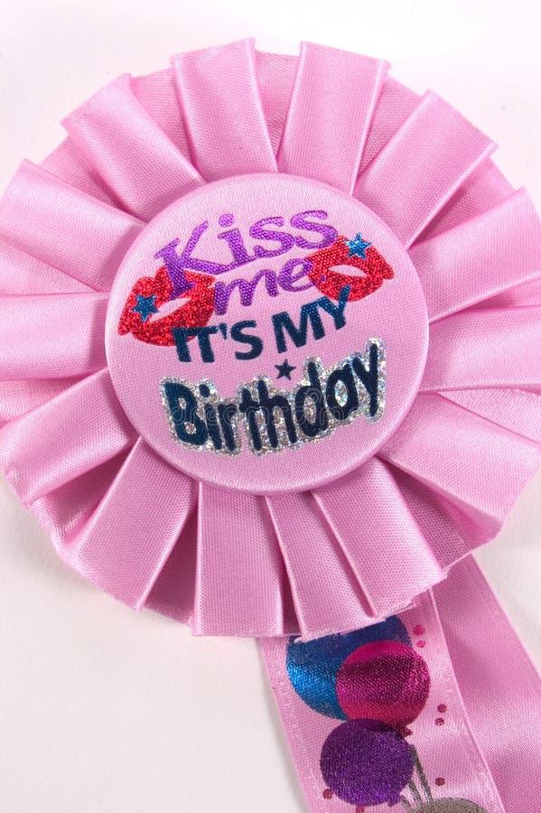 födelsedagen kysser mig mitt s royaltyfri bild