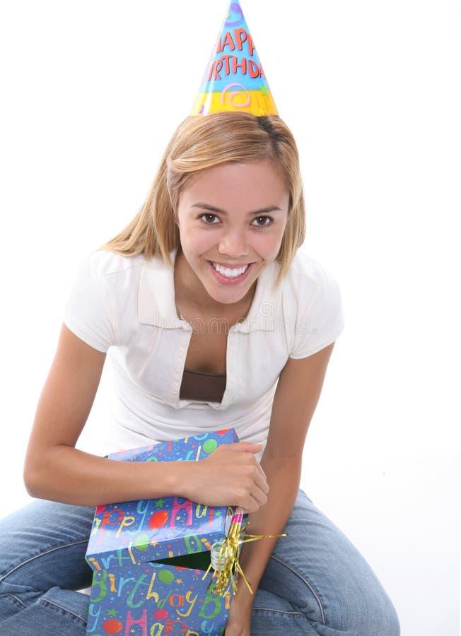 födelsedagflicka arkivbilder