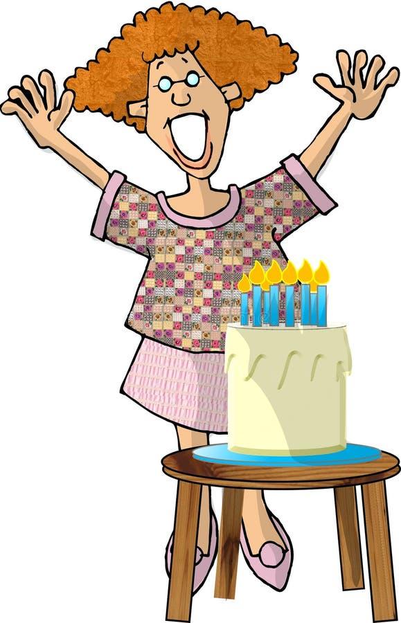 födelsedagflicka vektor illustrationer