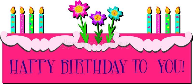 Download Födelsedaghälsning Med Stearinljus Stock Illustrationer - Illustration av beröm, tillfälle: 27287699