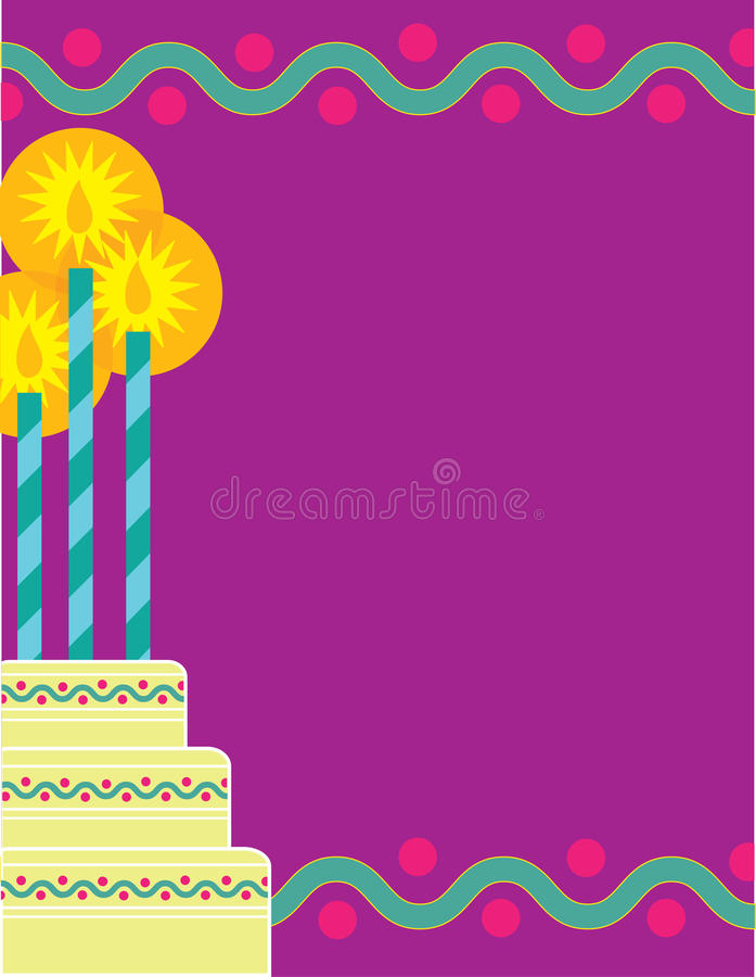 födelsedagkant royaltyfri illustrationer