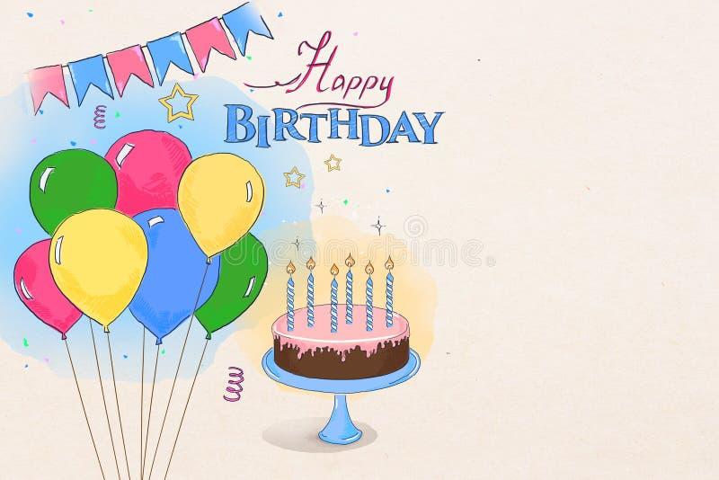Födelsedagklotter stock illustrationer
