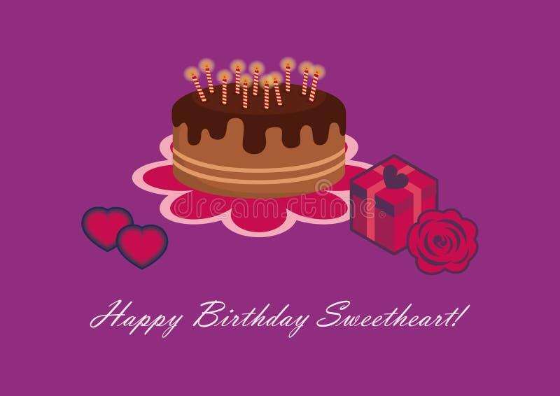 Födelsedagkort för älskling vektor illustrationer