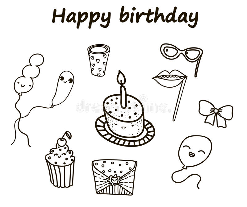födelsedagkort skapar lyckliga bildinbjudningar för hälsning mitt liknande för portfölj för deltagare var god set till bruksvisit vektor illustrationer