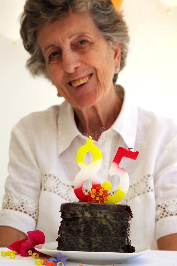 Födelsedagnummerstearinljus royaltyfria foton