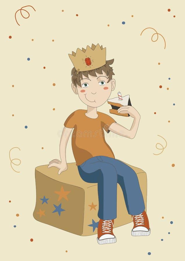 födelsedagpojke stock illustrationer