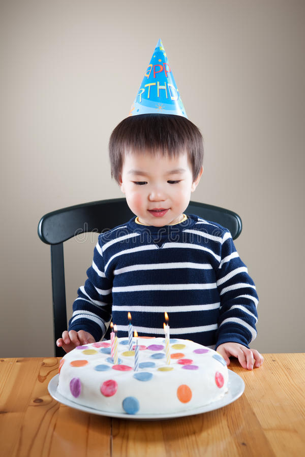 födelsedagpojke arkivfoto