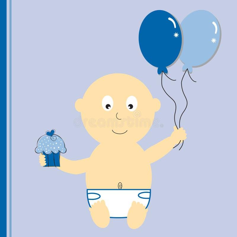 födelsedagpojke royaltyfri illustrationer