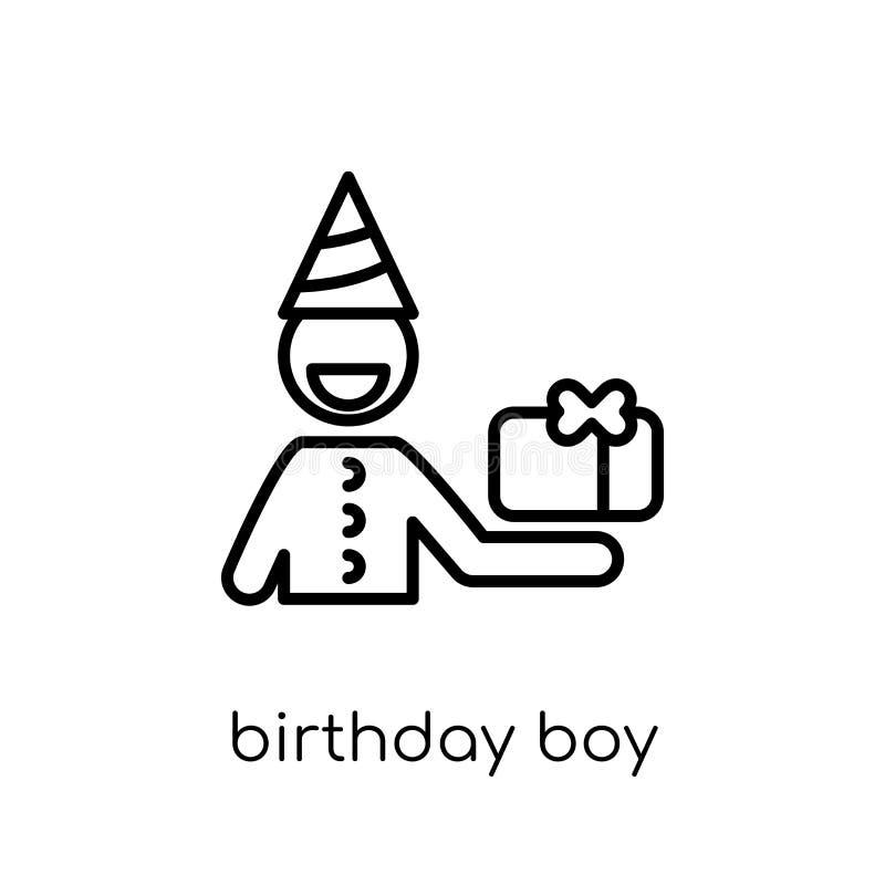 Födelsedagpojkesymbol från födelsedag- och partisamling royaltyfri illustrationer