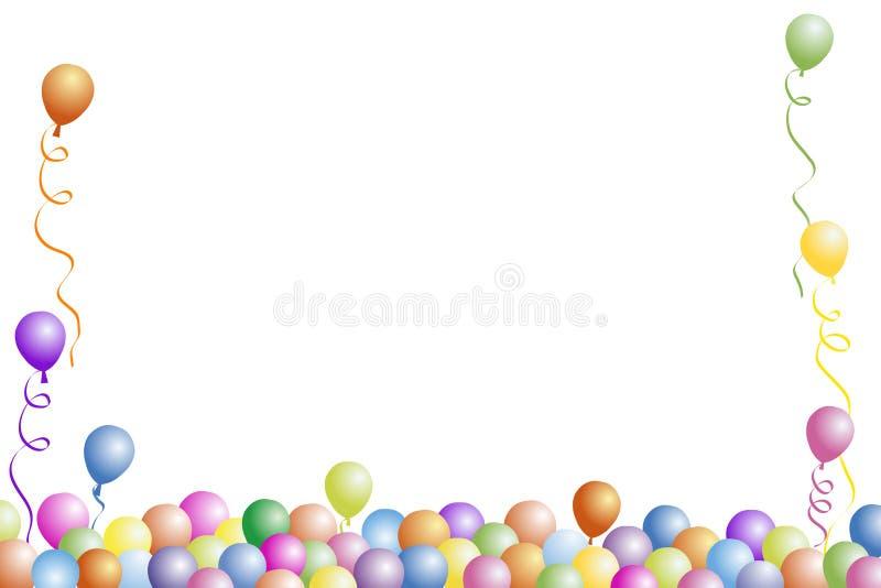 födelsedagramdeltagare stock illustrationer