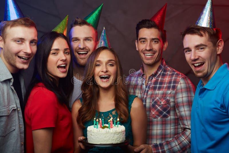 Födelsedagsammankomst royaltyfri bild