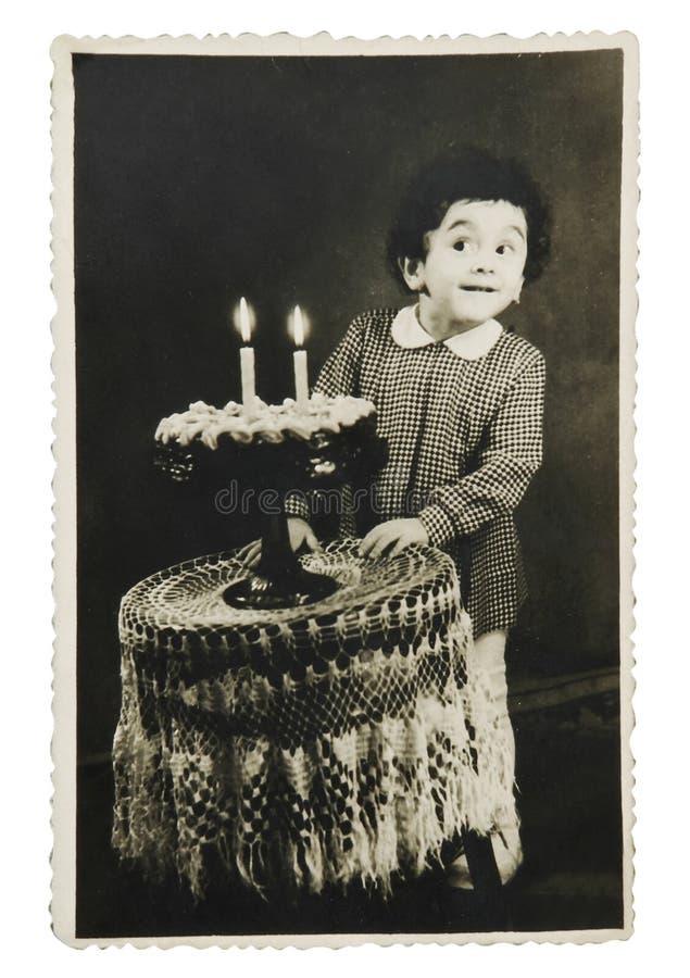 födelsedagtappning royaltyfria foton