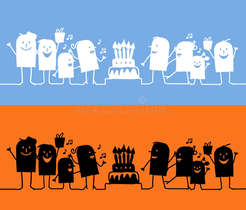 födelsedagteckenlinje royaltyfri illustrationer