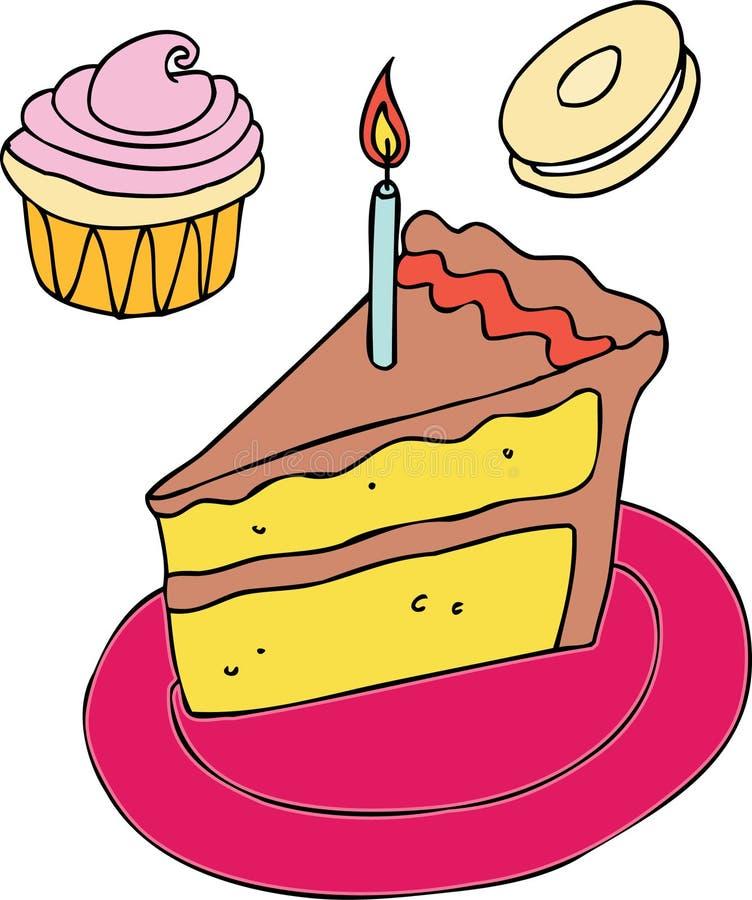 födelsedagtreats stock illustrationer
