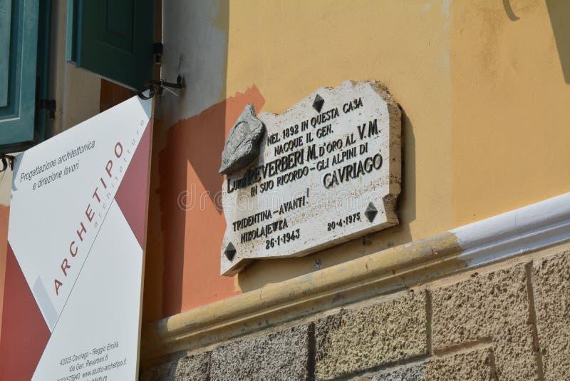 Födelseort av Luigi Reverberi royaltyfri foto