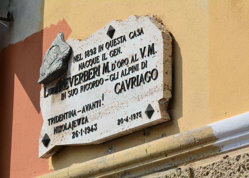 Födelseort av Luigi Reverberi fotografering för bildbyråer