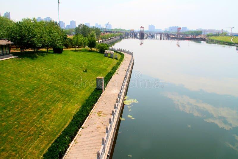 födelseort av Peking-hangzhou den storslagna kanalen arkivfoton