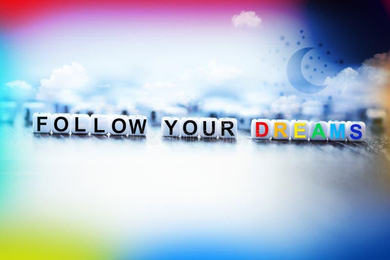 Följ ditt drömbegrepp fotografering för bildbyråer