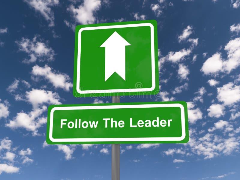 Följ ledarevägmärket arkivfoto