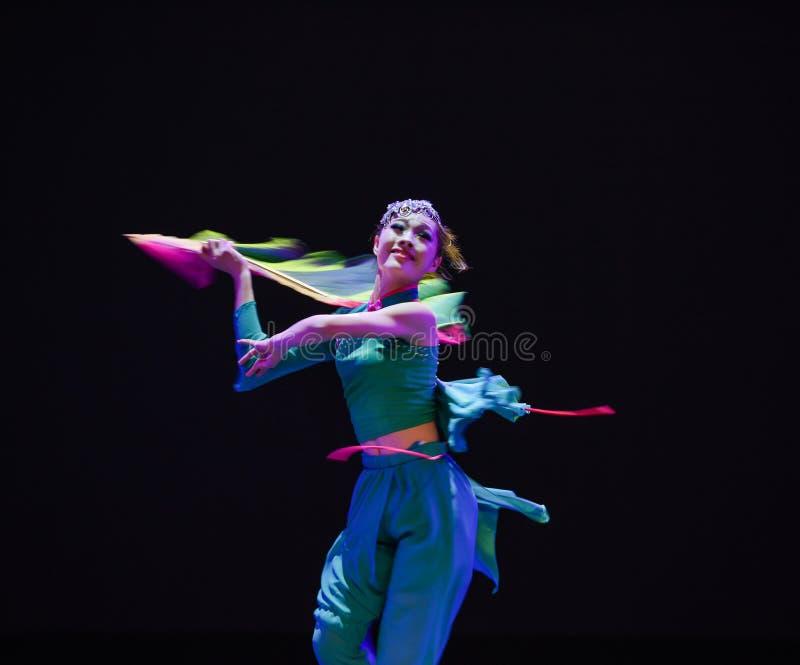 Följ skugga-medborgarefolkdansen arkivbild