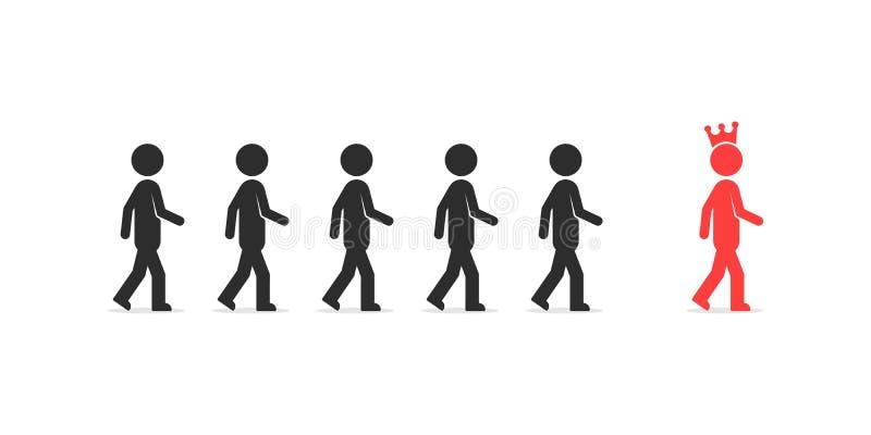 Följ till den bästa personen som ledarskap vektor illustrationer
