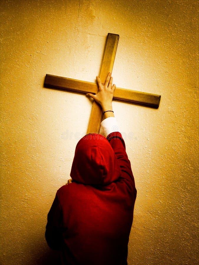 följande jesus royaltyfri bild