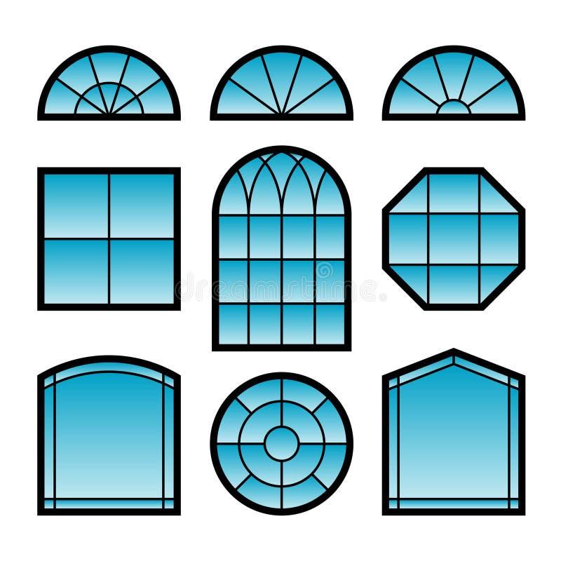 fönster royaltyfri illustrationer