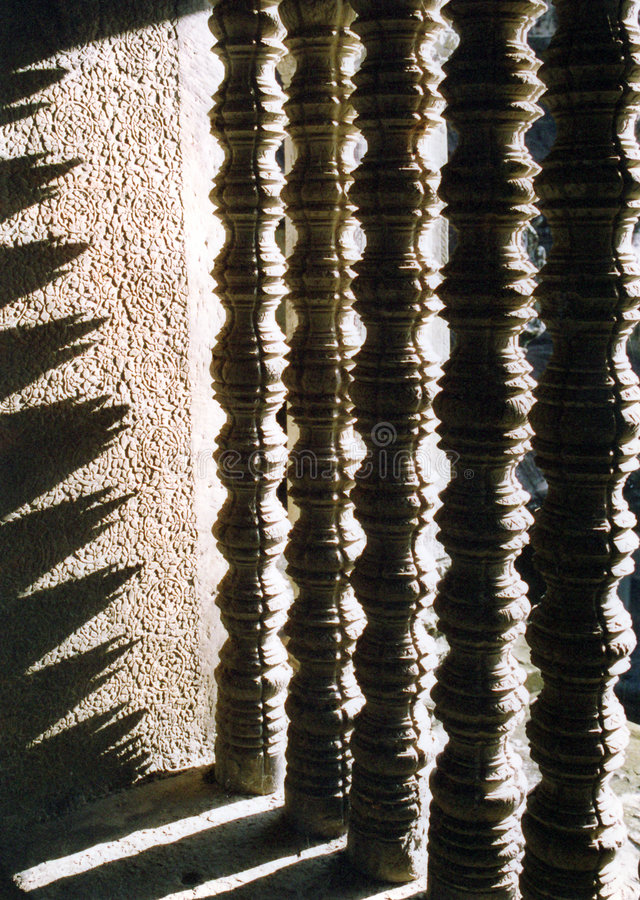 fönster för angkorcambodia wat royaltyfria bilder