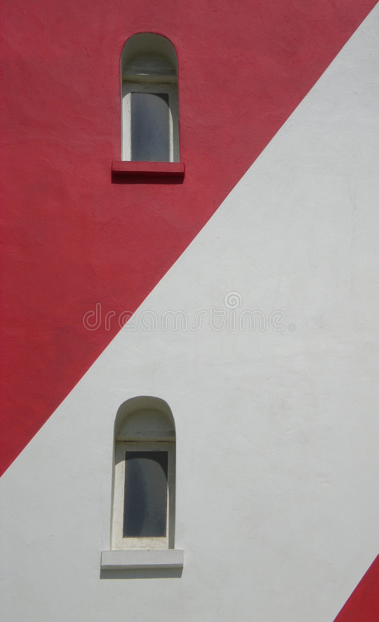 fönster för fyr två arkivfoto