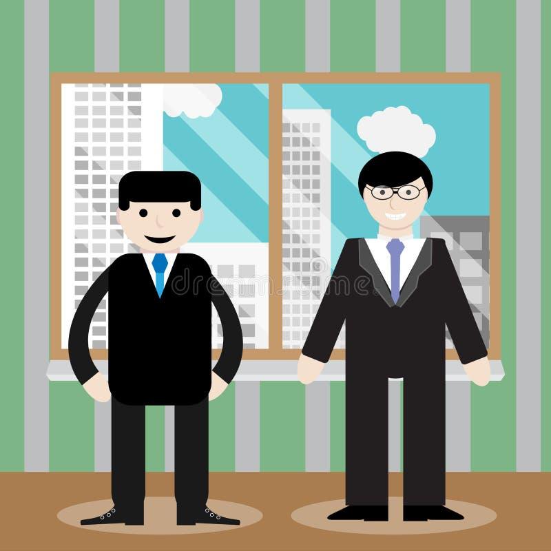 Fönster för kontor för framgångaffärslag vektor illustrationer