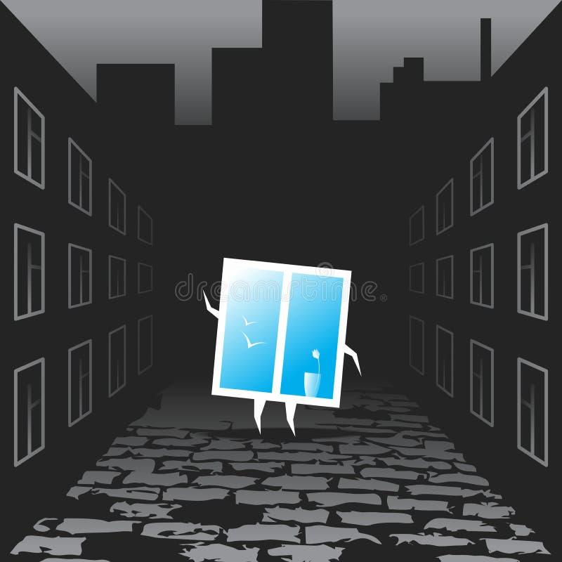 Fönster för optimism vektor illustrationer