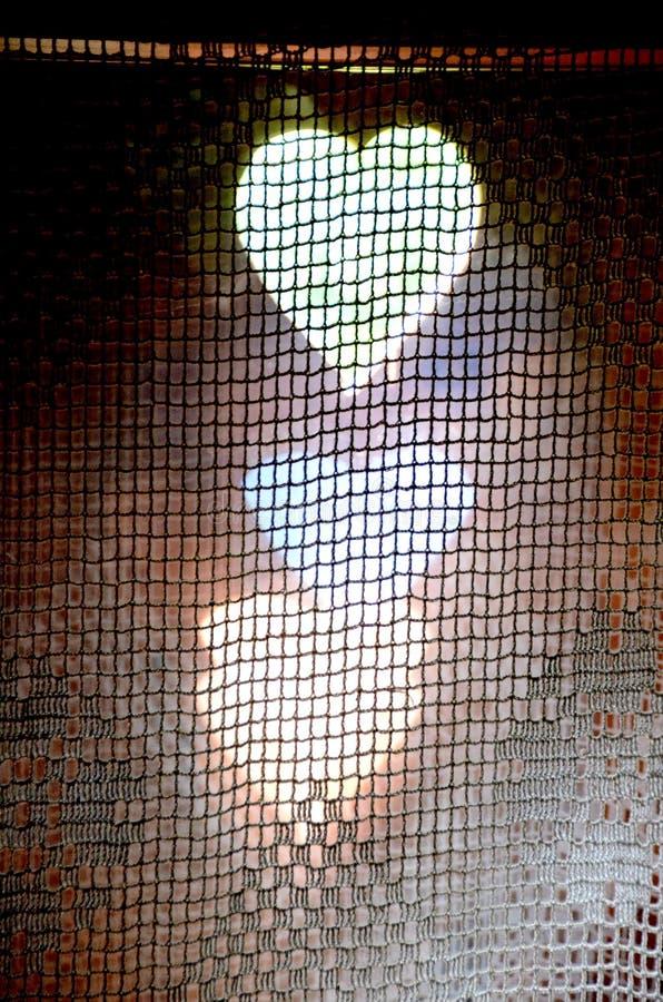 Fönster i en gammal stuga Lemko royaltyfri bild