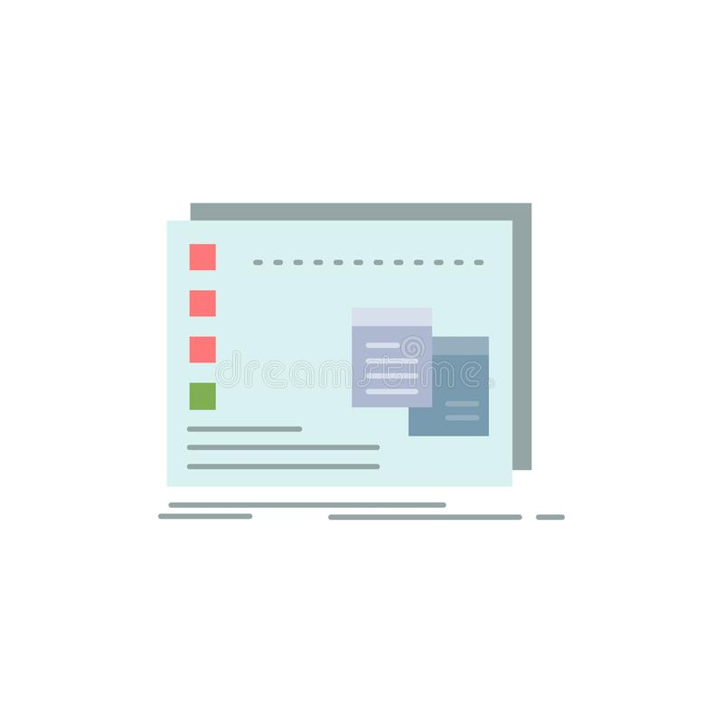 Fönster Mac som är fungerande, OS, för färgsymbol för program plan vektor vektor illustrationer