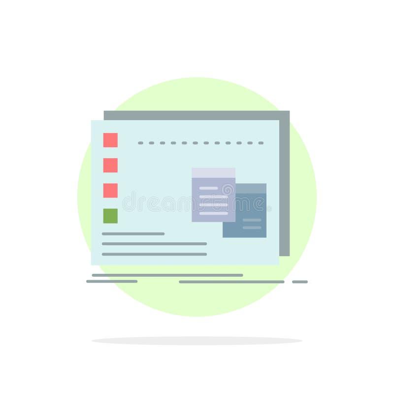 Fönster Mac som är fungerande, OS, för färgsymbol för program plan vektor stock illustrationer