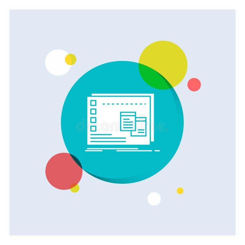 Fönster Mac som är fungerande, OS, för vit bakgrund för cirkel skårasymbol för program färgrik royaltyfri illustrationer