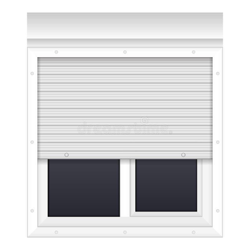 Fönster med rullande slutare vektor illustrationer