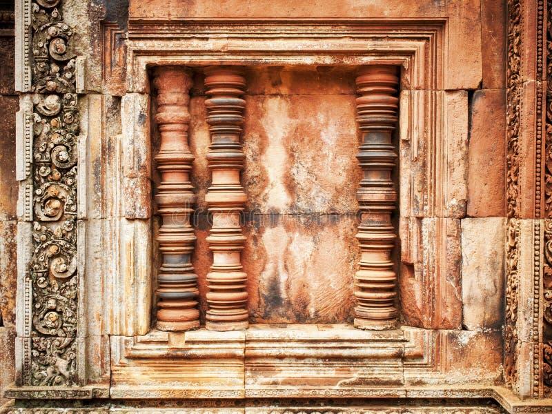 Fönster på Angkor Wat- Cambodja royaltyfria bilder