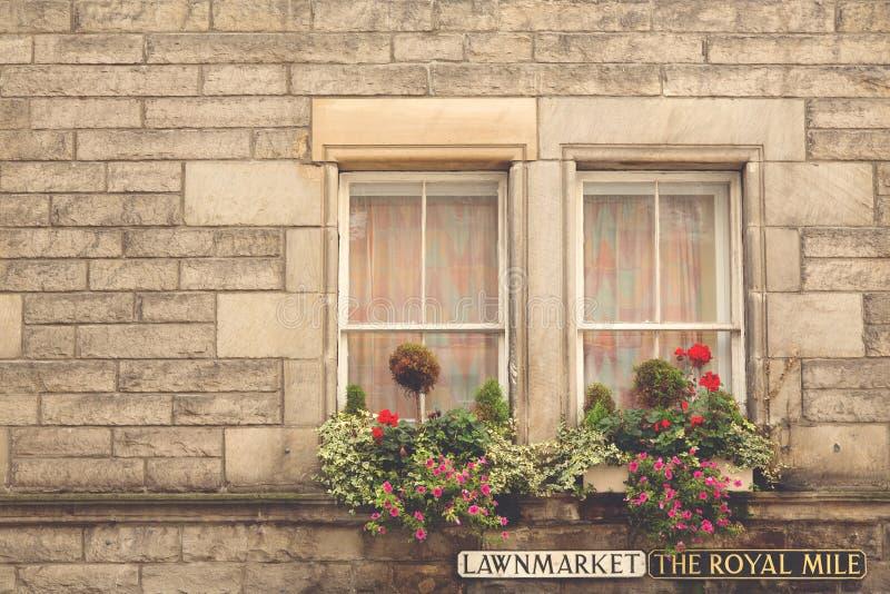 Fönster på den kungliga mil arkivbilder