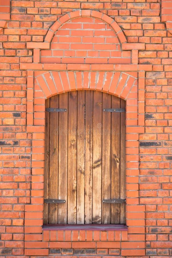 Fönster tegelsten, modell, rött som är gammal, hus, byggmästare arkivfoto