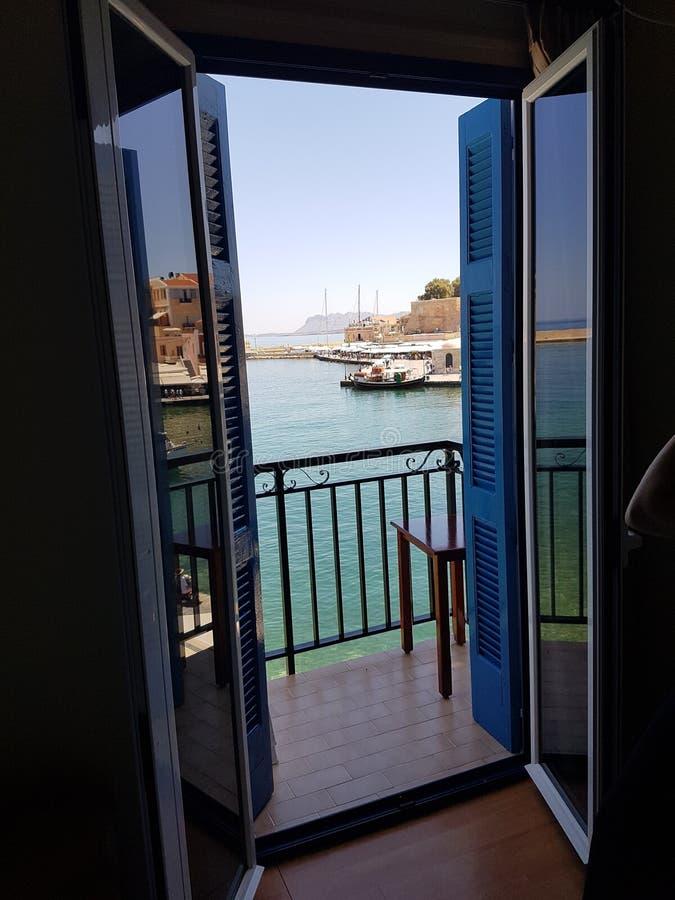 Fönster till havet arkivbilder