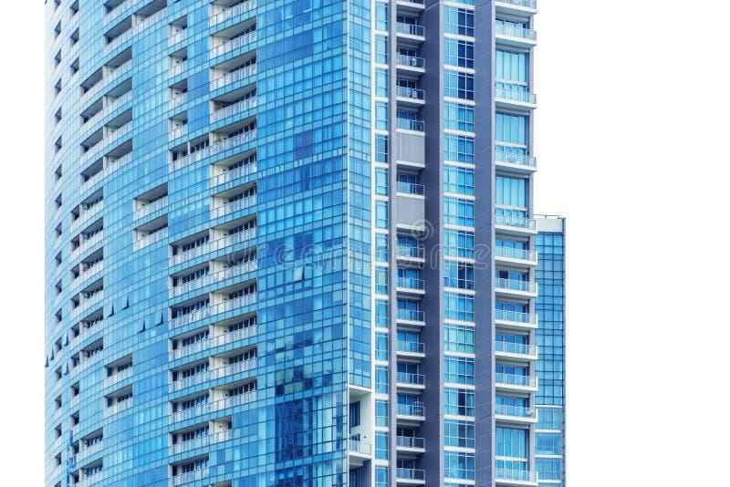 Fönsterexponeringsglas av det moderna tornet i Bangkok arkivbild