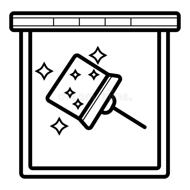 Fönsterlokalvård med torkaresymbolen stock illustrationer