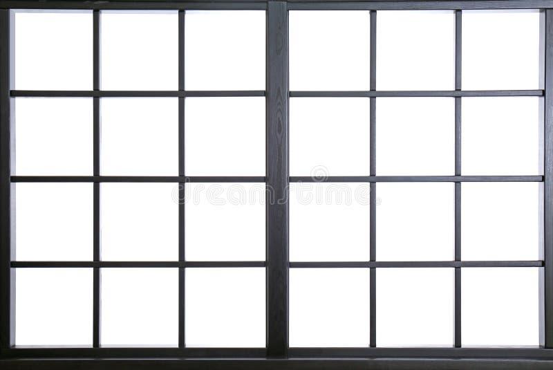Fönsterram med exponeringsglas, closeup arkivfoton