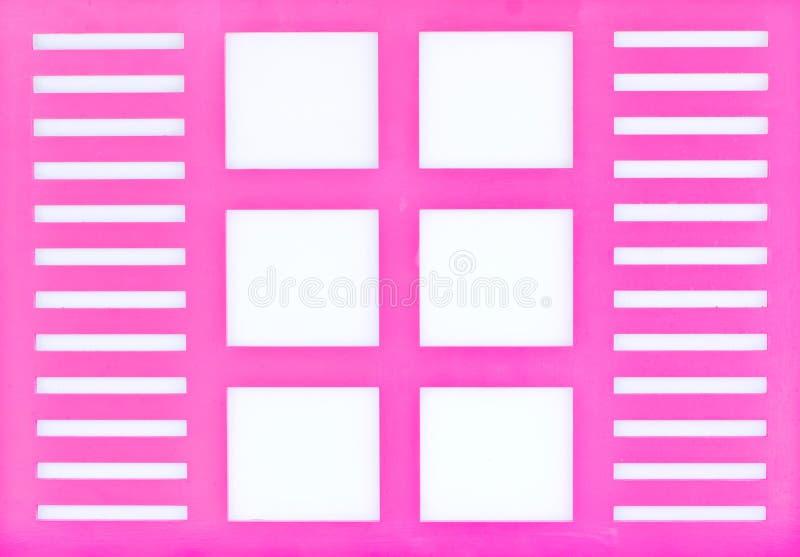 Fönsterram som isoleras på vit arkivbild