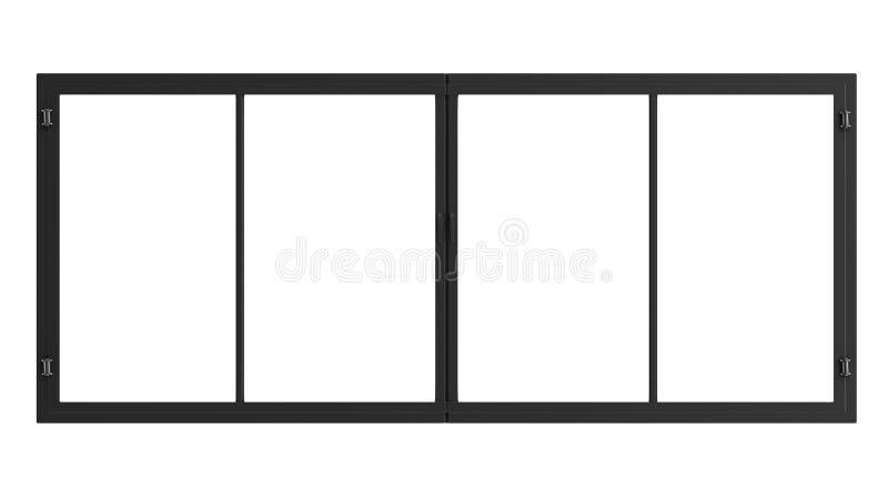 Fönsterram som isoleras på vit royaltyfri foto